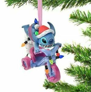 Disney Stitch Lights and Trike Christmas 2021 Xmas Tree Hanging Decoration