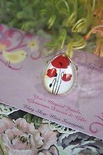 Poppy Ring - Red Poppy Ring - Red Poppy Flower Ring Anzac Remembrance Gift