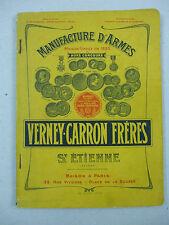 catalogue manufactures d'armes verney-carron frères saint étienne 1910 environ