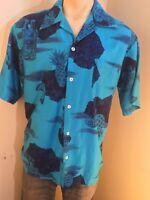 Vintage Shirt Tiki Aloha Hawaiian Men's Pomare 1970s Pineapple tropical print