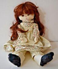 "Vintage Marilyn Conklin, R. Dakin Co.1984 Cloth Girl Doll 18"" Copper Long Hair"
