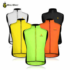 Mens Windproof Cycling Vest Bike Reflective Gilet Waistcoat Sleeveless Jersey