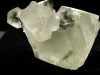A FLUORITE Crystal Cluster With Calcite Crystals Xianghualing Mine 119gr