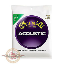 Brand New Martin M170 80/20 Bronze Extra Light Acoustic Guitar Strings .010-.047