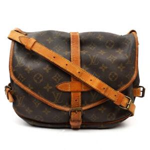LOUIS VUITTON Saumur 30 Shoulder Bag Monogram Brown M42256