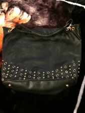 Black Leather, Woman's Shoulder/ Carry Bag. Brand New.