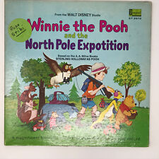 Disney Winnie The Pooh North Pole Expotition Lp Vinyl Record & Book 1968 St-3972