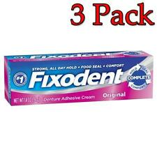 Fixodent Denture Adhesive Cream, Original, 1.4oz, 3 Pack 076660008649A265