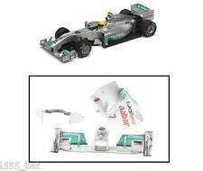 Scalextric W10248 Mercedes F1 2011 Rear Wing Spoiler Barge Board Nose Cone C3168