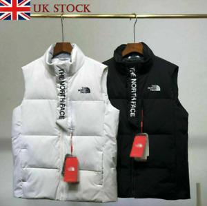 The North Face Body Warmer Men's Women's Winter Down Cotton Vest White Black UK