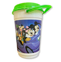 """Vintage Whirley Disney Parks 9"""" Cup Mickey Mini Mouse Lid Goofy Pluto Donald"""