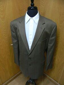 Mens Blazer Sport coat Jacket Croft & Barrow 50r Golden Brown Herringbone  S#54