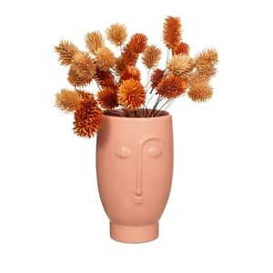Small Matte Pink Dolomite Face Flower Vase