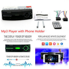 Car 1-Din Radio Stereo Lossless Sound Quality MP3 Player Bluetooth Phone Holder