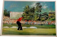 Tiger Woods Signed Autographed Canvas Print 29x44 Gorgeous! UDA Limited to 25