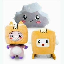 Lankybox Boxy + Foxy + Rocky Plush Soft Stuffed Toy Kid Game Figure Plushie Doll