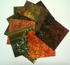 Autumn Notes Batiks Fabric Pack remnants quilting patchwork bundles 100% cotton