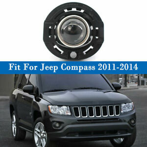 Left/Right Side Fog Light Lamp Clear Lens For Jeep Compass 11-14 Chrysler Dodge