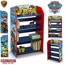 Paw Patrol Bookshelf Storage Children Furniture Organize Books Toys Kids Bedroom