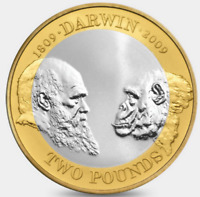 2009 £2 CHARLES DARWIN 200TH ANNIVERSARY TWO POUND COIN HUNT 19/32 RARE 2 xx