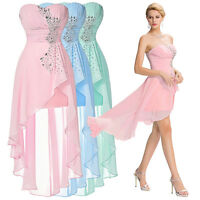 Chiffon Evening Prom Dress High-Low Cocktail Party Gown Short Bridesmaid Dresses