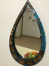 Wall Mirror epoxy and wood Art for Modern Home Decor