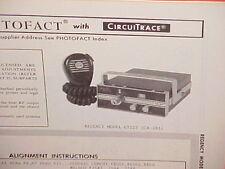 1969 REGENCY CB RADIO SERVICE SHOP MANUAL MODEL GT523 (CB-283)