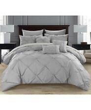 Chic Home Hannah 10 Piece Queen Comforter Set Silver $303