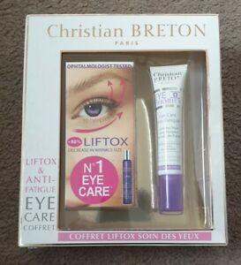 Christian Breton Liftox & Anti Fatigue Eye Care Coffret New In Box