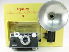 Argus C3 35 mm Camera Original Box Flash