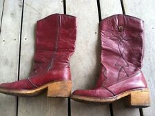 Vintage Womens Red Ox Blood Etienne Aigner Boots 9 N Italy Gogo