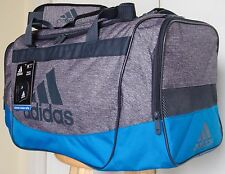 Adidas Defender II Gray/Blue Medium Duffel Gym Sports Bag #5140849