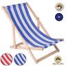 Liegestuhl Strandliege Sonnenliege Gartenliege Buchenholz Liege 120 kg Streifen