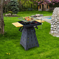 Outsunny Deluxe Fire Pit Adjustable Grill Grate Heater Brazier BBQ Cooking Stand