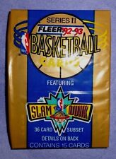 1992 - 93  Fleer Basketball Series 2 Pack (x1) Fresh from a Sealed Box!