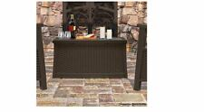 Coffee Table With Storage Suncast Deck Patio 30 Gallon Outdoor Resin New