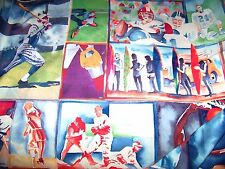 """Vintage OOP Silky Blended Fabric ALL SPORTS 56"""" x 36""""   8  ."""