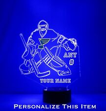 St. Louis Blues Goalie - Personalized FREE - NHL Hockey LED Sports Fan Lamp