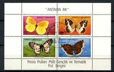 Turkey 1988 SG#MS3018 Butterflies Cto Used M/S #A35795