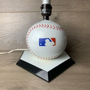 MLB Logo Baseball Shape Desk Lamp MLB Man Cave or Kid's Room Lamp Nightlight