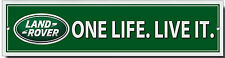 LANDROVER ONE LIFE LIVE IT METAL SIGN.4X4 OFF ROADING.JEEP SIGN,WORKSHOP SIGN.lm