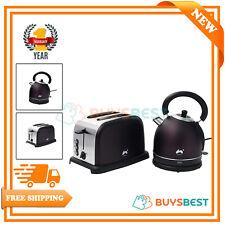 Ovation Plum Classic 1.8L Dome Kettle & 2 Slice Toaster Breakfast Set - HT604