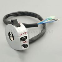 """7/8"""" Motorcycle Switch Light Turn Signal Horn ON OFF Side Control Left Chrome"""