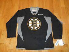 NWT Reebok BOSTON BRUINS NHL Hockey Stitched Replica Practice Jersey MENS Large