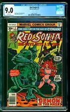 Red Sonja 2 CGC 9.0 VF/NM Roy Thomas story Frank Thorne cover art Marvel 1977