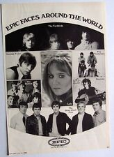 DAVE CLARK FIVE YARDBIRDS HOLLIES LULU TREMELOES 1968 Poster Ad EPIC RECORDS