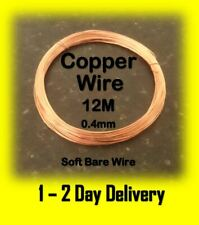 Bare Copper Wire Craft Wire 0.4mm 12 Metres Soft Modelling and Hobbyist