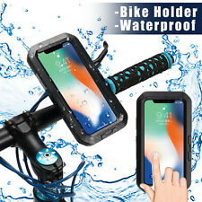 IPX8 Waterproof Case Underwater Motorcycle Bicycle Bike Handlebar Phone Holder