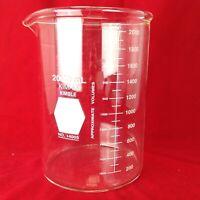 Kimax Kimble 14005 2000mL One Glass Heavy Duty Beaker