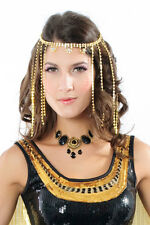 Womens Black Vintage Diamond and Gold Necklace, Fashion Costume Jewellery